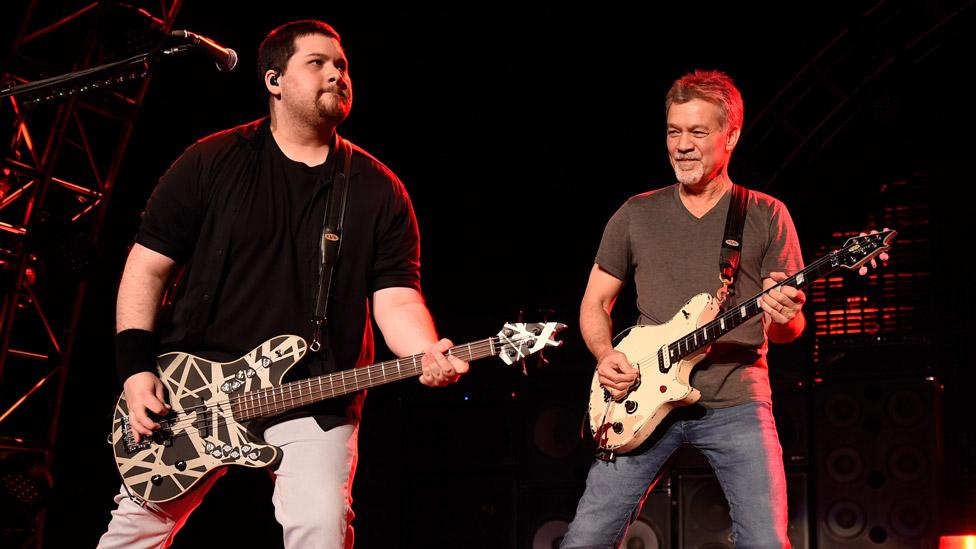 Eddie & Wolfang Van Halen