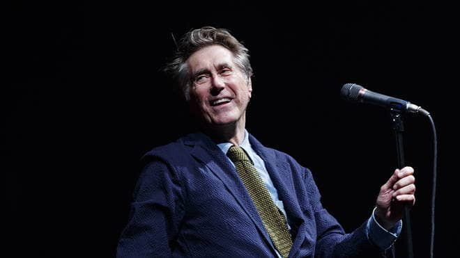 Bryan Ferry Supports His Band And Crew